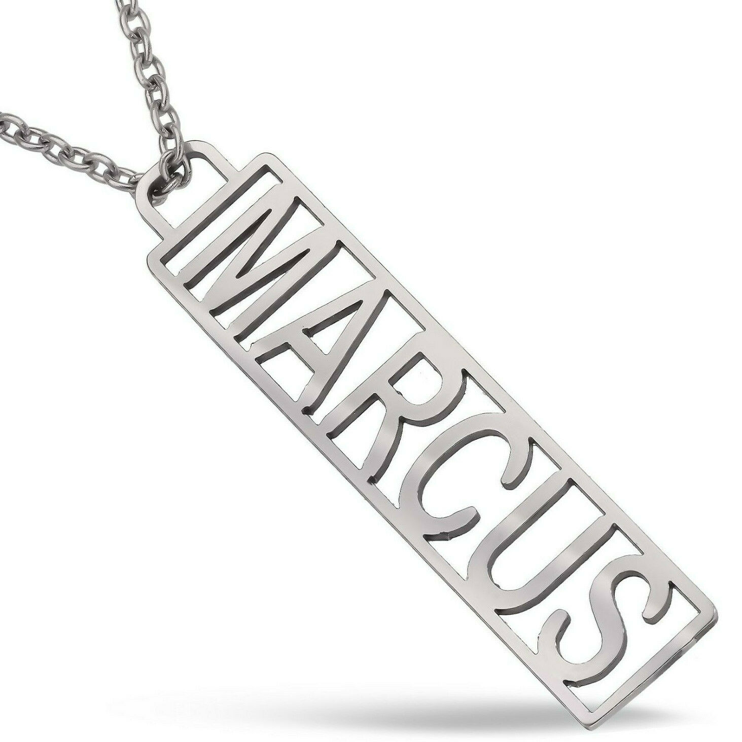 Custom Dog Tag Mens Womens Nameplate Necklace Personalized Steel Jewelry Gift