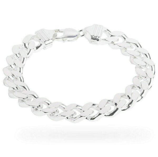 Men's 2oz Guaranteed Miami Cuban Bracelet Heavy Sterling Silver Curb Chain Link
