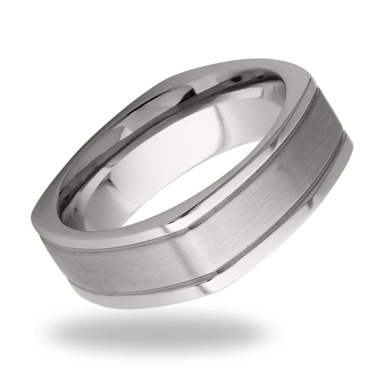 Men's Solid Stainless Steel Chunky Band Ring Size 8.5 Gents Fashion Jewelry Gift