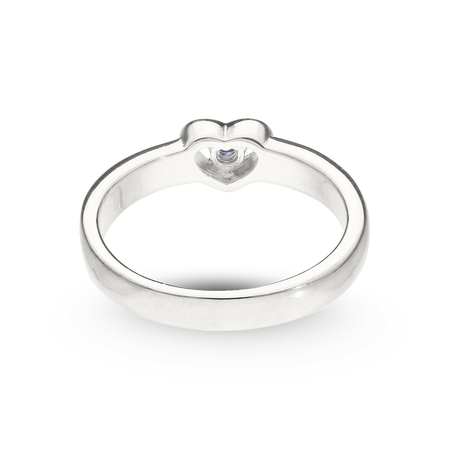 Mother's Heart-Shaped Sterling Silver Ring Any 2 Names Engravable + Birthstone