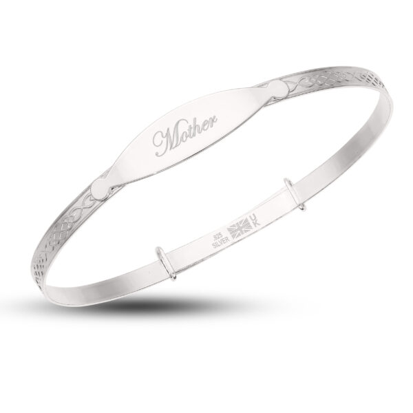 Mother & Baby Silver Personalized Set