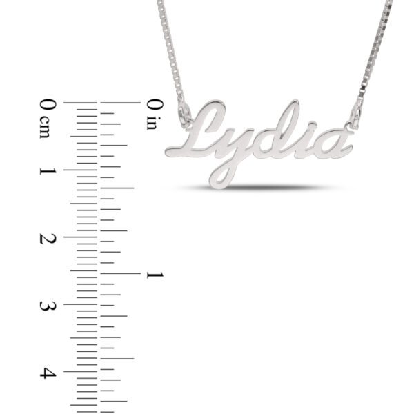 Personalized Name Necklace Sterling Silver Samantha Font