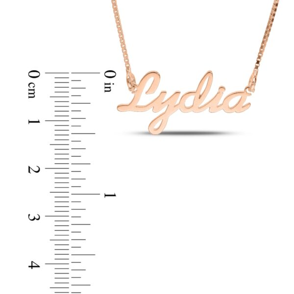 Personalized Name Necklace Rose Gold Samantha Font
