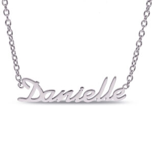 Personalized Name Necklace Stainless Steel Samantha Font