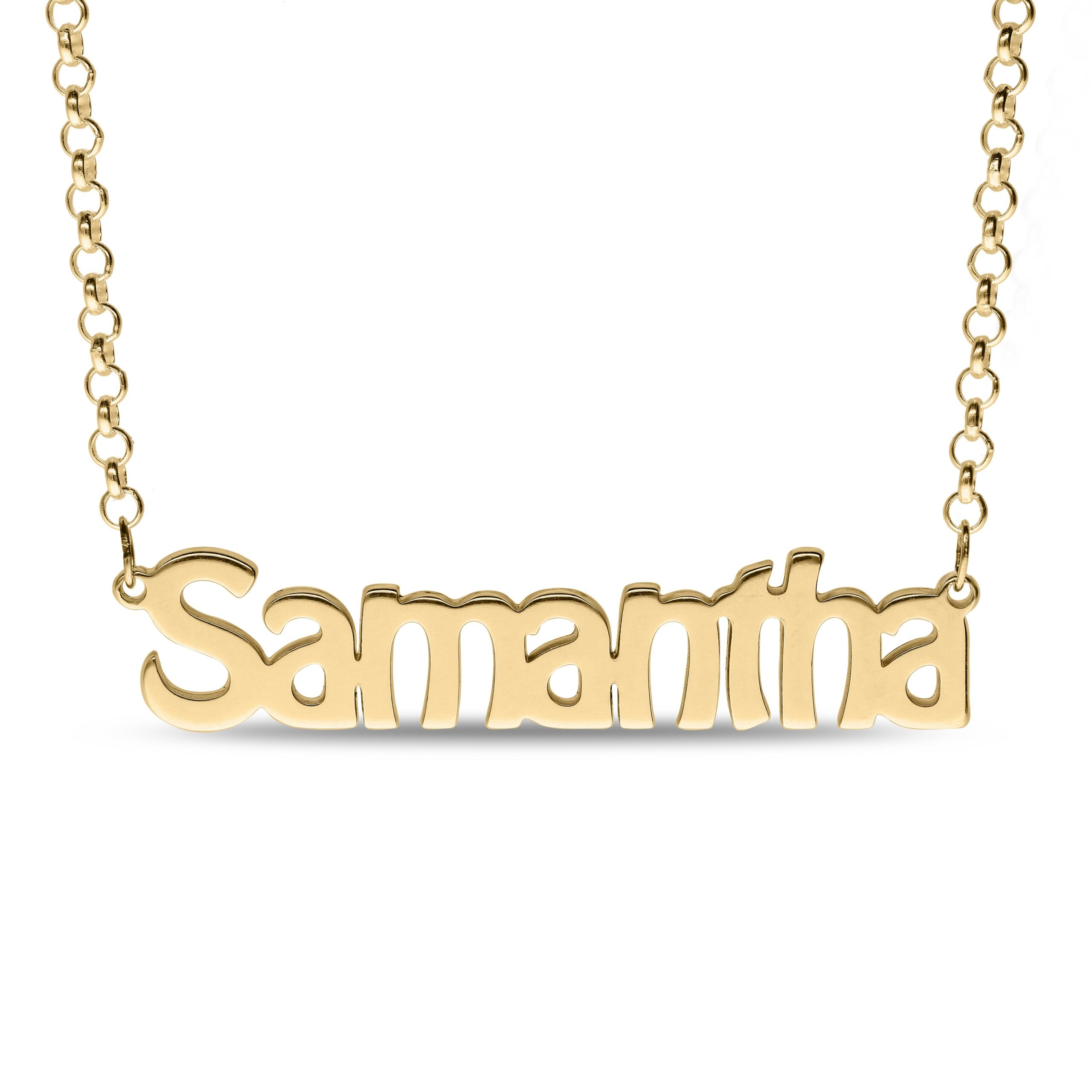 Personalized Name Necklace Gold