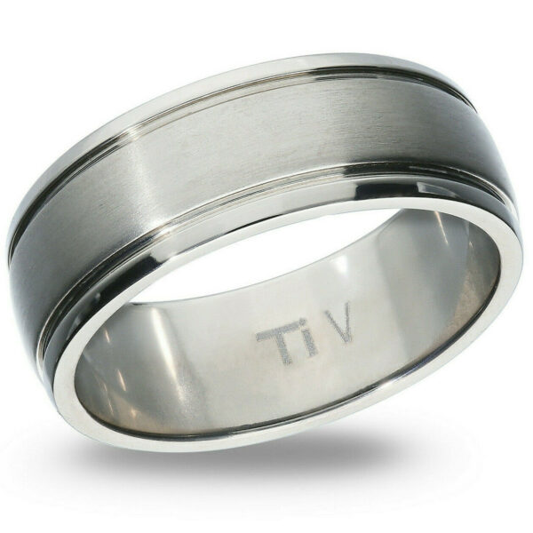 Titanium 8mm Ring Solid Band Mens Womens High Fashion Jewelry Gift Sizes 8-12